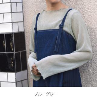 w closet - wcloset しわ加工シフォンボードネックプルオーバー【モカ】