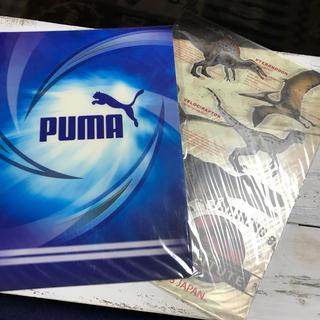プーマ(PUMA)の下敷2枚セット(ノート/メモ帳/ふせん)