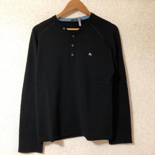 バーバリーブラックレーベル(BURBERRY BLACK LABEL)のバーバリー ブラックレーベル ニットシャツ ニットカーディガン(ポロシャツ)