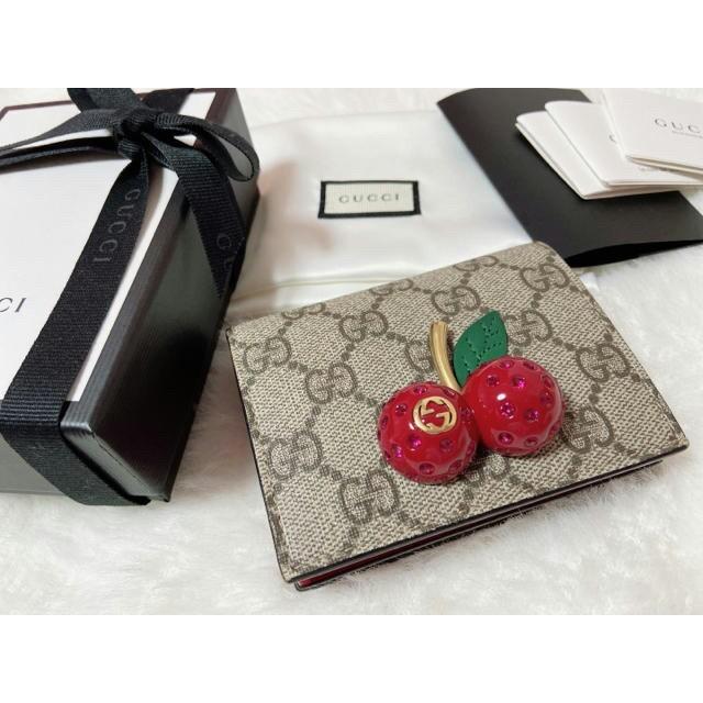 Gucci - GUCCI 折り財布 チェリー さくらんぼの通販