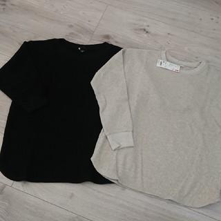 UNIQLO - ユニクロ ワッフルクルーネックTシャツ