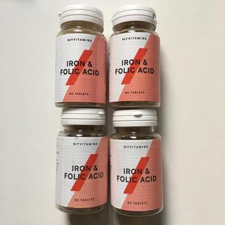 マイプロテイン(MYPROTEIN)の鉄分 & 葉酸 タブレット 90錠 4本セット マイプロテイン (ビタミン)