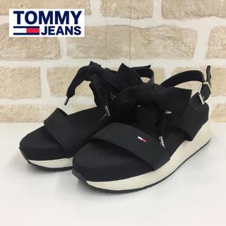 TOMMY HILFIGER - 定価1.9万/未使用 トミージーンズ 厚底/プラットフォームサンダル ブラック系