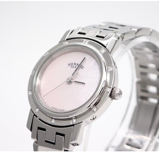 Hermes - 【HERMES】エルメス腕時計 クリッパーナクレ ピンクシェル ☆ダイヤモンド☆