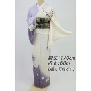 《長尺■洗える着物■luxjewel東レ■牡丹の花訪問着■袷化繊HP1-42》