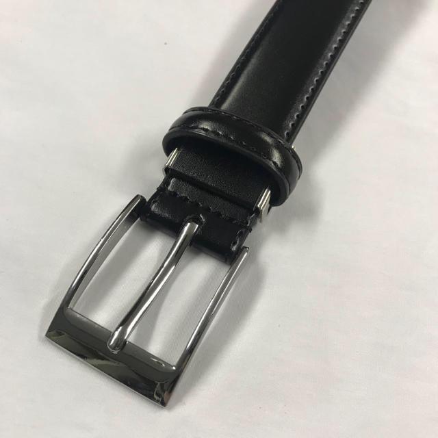 新品 メンズ ベルト 牛革 レザーベルト ビジネス 学生服 黒  メンズのファッション小物(ベルト)の商品写真