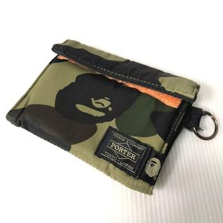 A BATHING APE - 【H】A BATHING APE PORTER 1ST CAMO WALLET