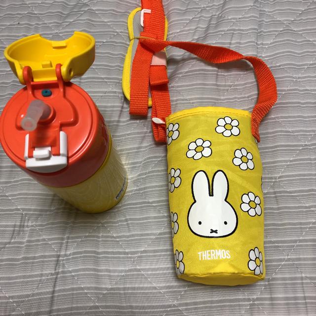 新品 サーモス ミッフィー ストロー付 水筒 0.4L キッズ/ベビー/マタニティの授乳/お食事用品(水筒)の商品写真