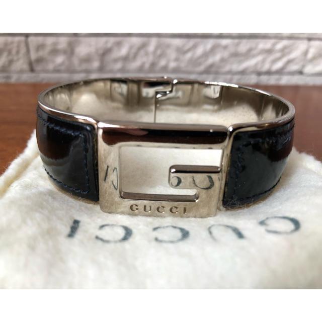 Gucci - レアGUCCI ネイビーバングルの通販