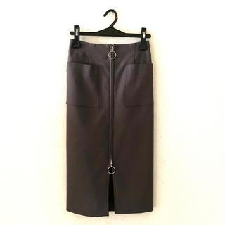 ノーブル(Noble)の【Noble】T/Cダブルクロス フープジップタイトスカート(ミニスカート)