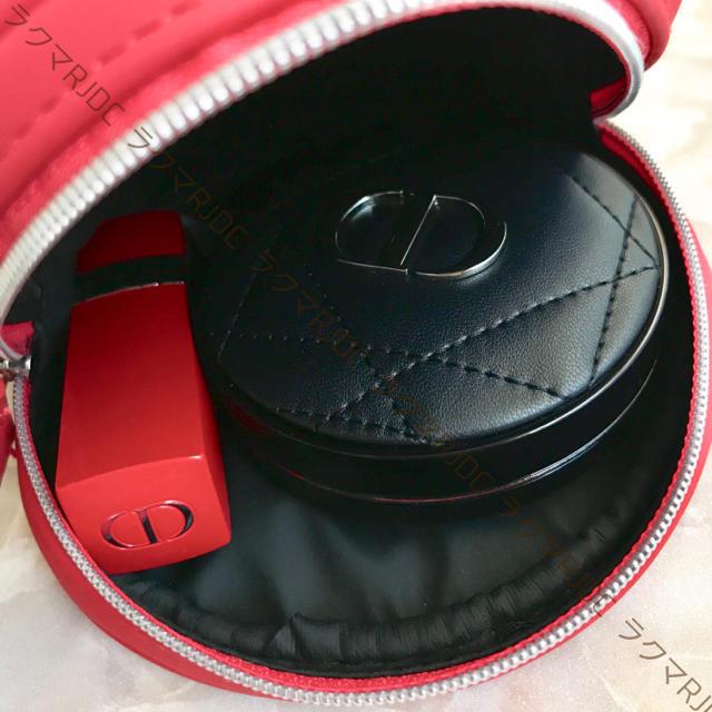 Dior(ディオール)の【新品未使用】ディオール 2019 ラウンドポーチ ミニポーチ メイクポーチ   レディースのファッション小物(ポーチ)の商品写真