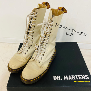 ドクターマーチン(Dr.Martens)のDr.Martens!ドクターマーチン レースアップロングブーツ!ベージュ!(ブーツ)