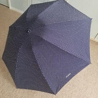 mina perhonen - NIMESニーム/小さなドットネイビーの晴雨両用折り畳み傘