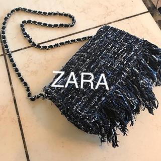 ZARA - ZARA ザラ 3way ツイード バッグ /チェーン クラッチ シャネル