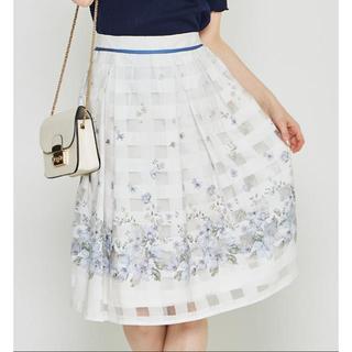 tocco - tocco closet☆シアーチェックフラワースカート