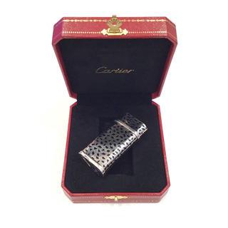 カルティエ(Cartier)の4175 カルティエライター シルバー 紙吹雪模様  箱付き(タバコグッズ)