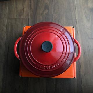 LE CREUSET - 新品 ルクルーゼ ココット・ビス 22cm  レア 限定品 レッド 赤