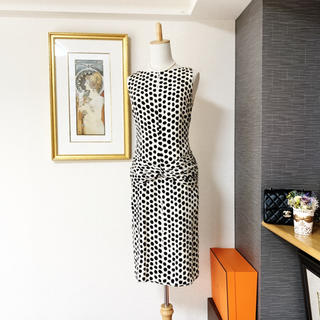 VALENTINO - 極美品 ヴァレンティノ  ドット シルク  ワンピース ドレス