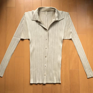 PLEATS PLEASE ISSEY MIYAKE - イッセイミヤケ プリーツプリーズ シャツ ジャケット 羽織り ベージュ