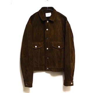ttt_msw 16ss suede leather jacket