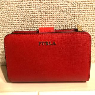 フルラ(Furla)の【最終値下げ】FURLA バビロンM 折り財布(レッド)(財布)