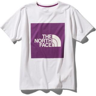 ザノースフェイス(THE NORTH FACE)のショートスリーブカラードビッグロゴティー ワイルドアスターピンク  Lサイズ (Tシャツ/カットソー(半袖/袖なし))