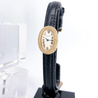 Cartier - 【保証書付】カルティエ ミニ ベニュワール K18 ダイヤ レディース 腕時計