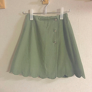 OLIVEdesOLIVE - なみなみ台形スカート