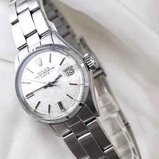 ROLEX - 【OH済】ロレックス オイスター デイト シルバー レディース 腕時計