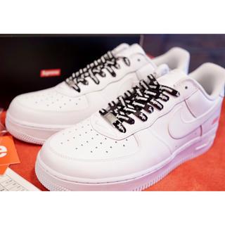 Supreme - 黒sup紐付き! Supreme x Nike Air Force 1 low