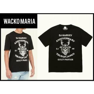 ワコマリア(WACKO MARIA)の新品 未開封 ワコマリア × DJハ―ヴィー コラボ スカル Tシャツ 黒 XL(Tシャツ/カットソー(半袖/袖なし))