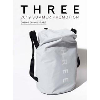 THREE - THREE スリー オリジナル パッカブルボストンバッグ ノベルティ 新品未使用
