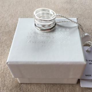 Maison Martin Margiela - S新品 メゾンマルジェラ 3連リング シルバー 指輪 18AW メンズ