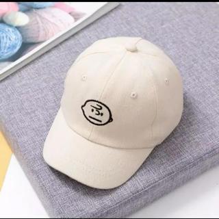 キッズ帽子 チャーリー刺繍キャップ アイボリー