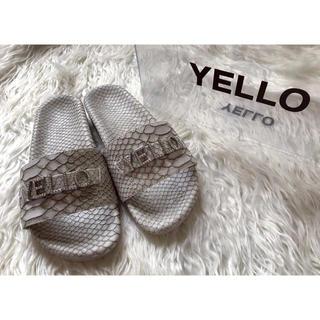イエローブーツ(Yellow boots)の#yelloドラゴンスキンスライダーズ(サンダル)