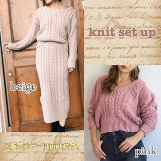 SeaRoomlynn - SeaRoomlynn♢knit set up♢pink