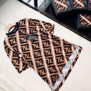 FENDI - FENDIフェンディFFロゴ&ストライプ コットンジャージー Tシャツ