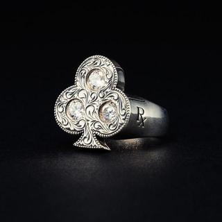 クーティー(COOTIE)のCOOTIE Club Ring(White Stone)(リング(指輪))