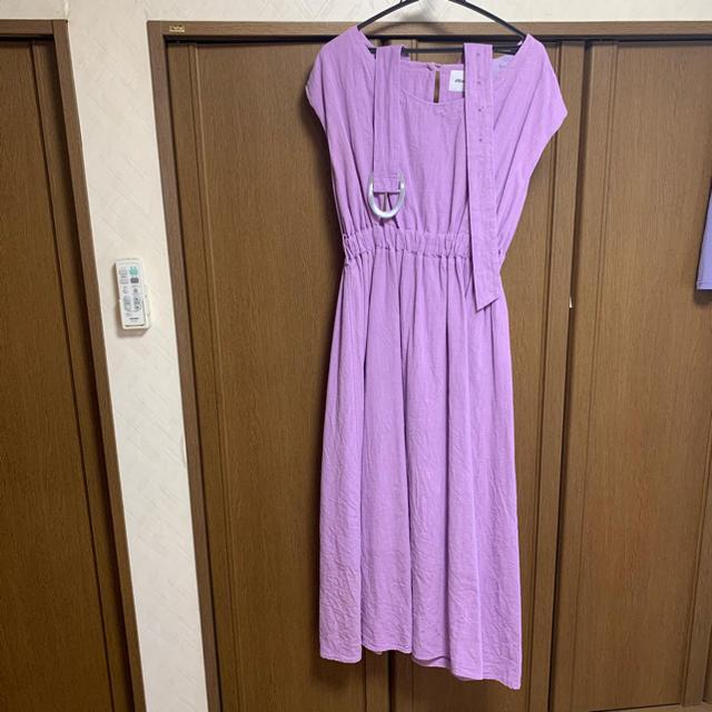 IENA(イエナ)のmite linen maxi dress パープル howdy baybee  レディースのワンピース(ロングワンピース/マキシワンピース)の商品写真