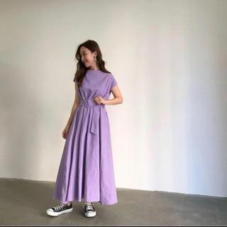 IENA - mite linen maxi dress パープル howdy baybee