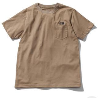 THE NORTH FACE - 即購入可能新品タグ付限定品ノースフェイスシンプルロゴポケットTシャツベージュM