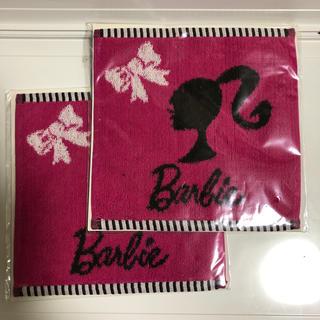 バービー(Barbie)のバービーミニタオル 2枚組(ハンカチ)