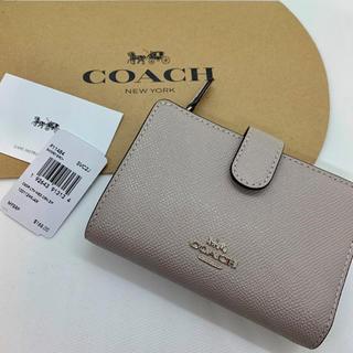 COACH - 【新品】COACH コーチ 折り財布 グレー  グレージュ
