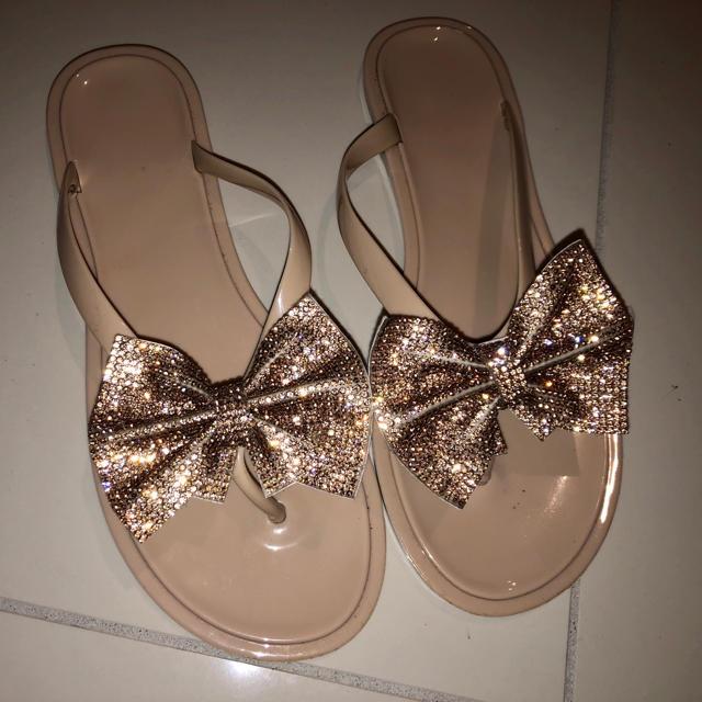 ANAP Latina(アナップラティーナ)のキラキラストーン♡リボン♡サンダル レディースの靴/シューズ(サンダル)の商品写真