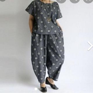 ネストローブ(nest Robe)のanvai ◆織り柄デニムコットン100%トップスとボールパンツ◆未使用品(カジュアルパンツ)