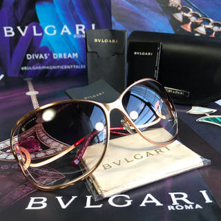 BVLGARI - 【正規品】極美品 BVLGARI ブルガリ サングラス ピンクグラデーション