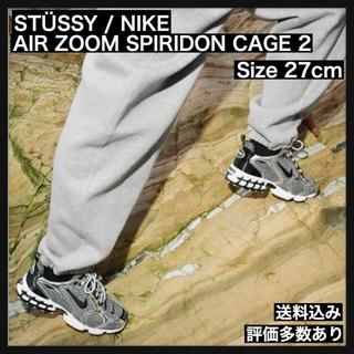 ナイキ(NIKE)のSTUSSY / NIKE AIR ZOOM SPIRIDON CAGE 2 (スニーカー)