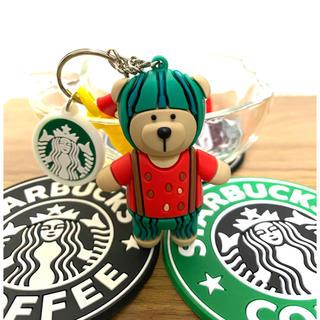Starbucks Coffee - 【新生活応援☆即購入歓迎】Starbucks ベアリスタ キーホルダー スイカ
