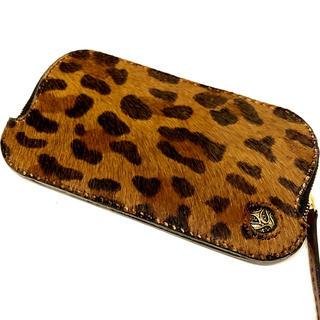 豹柄ハラコ 本革 手縫い 長財布 ロングウォレット