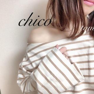 who's who Chico - 新品❁フーズフーチコ ボートネックボーダーロンT